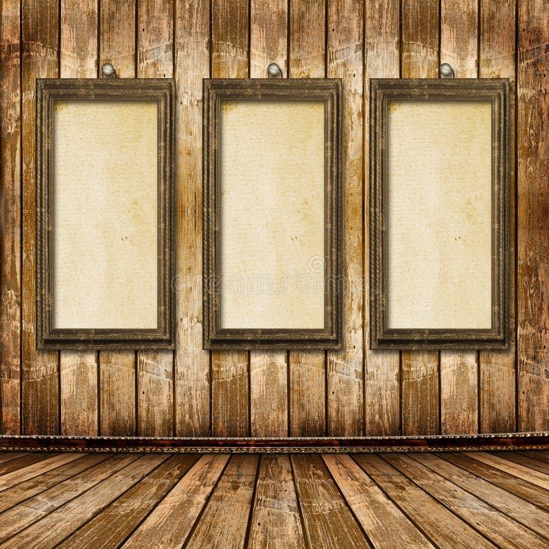 Le vieil or encadre le type victorien sur le mur photos stock