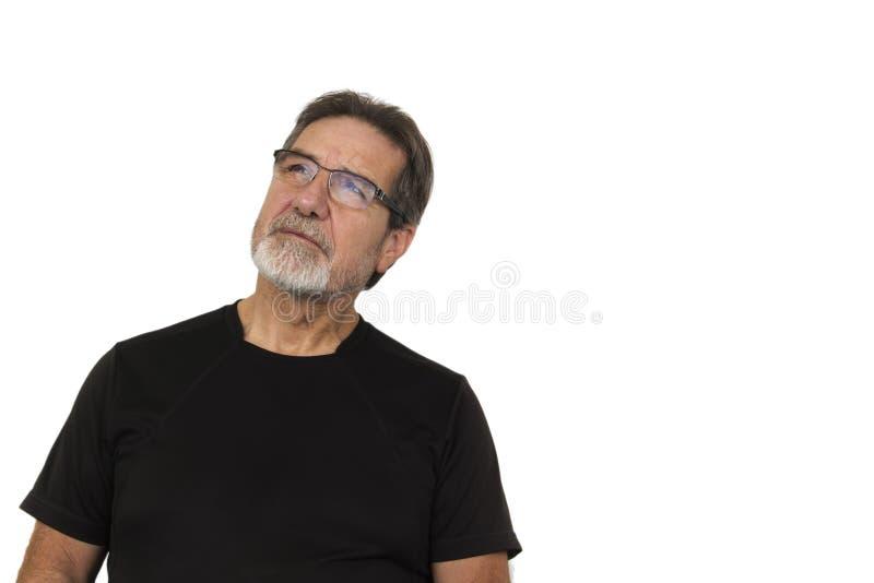 Le vieil homme beau recherchent photographie stock libre de droits