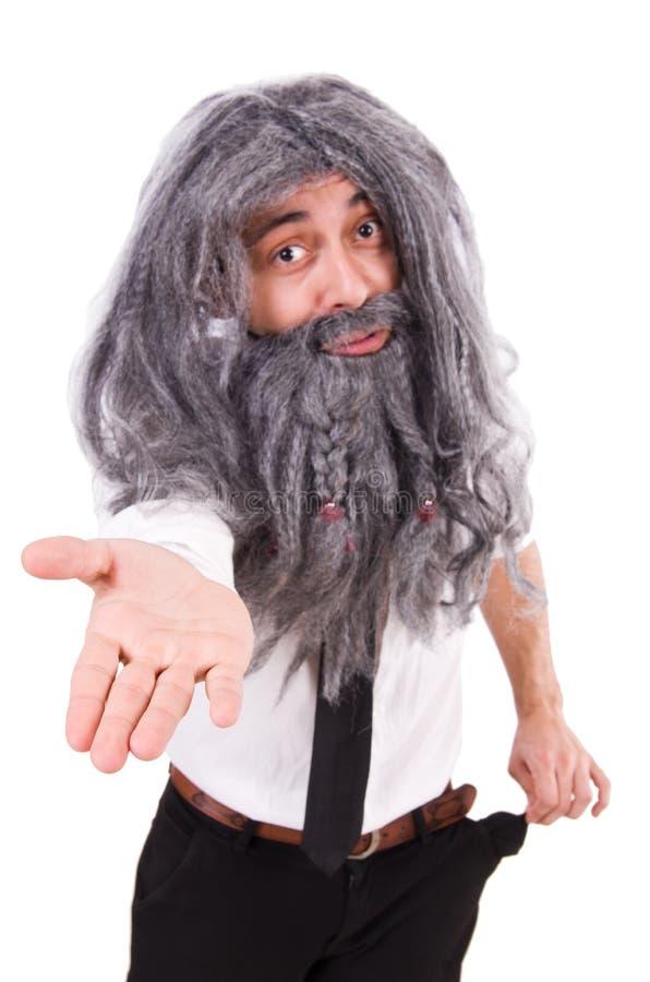 Le vieil homme dans le concept drôle image libre de droits