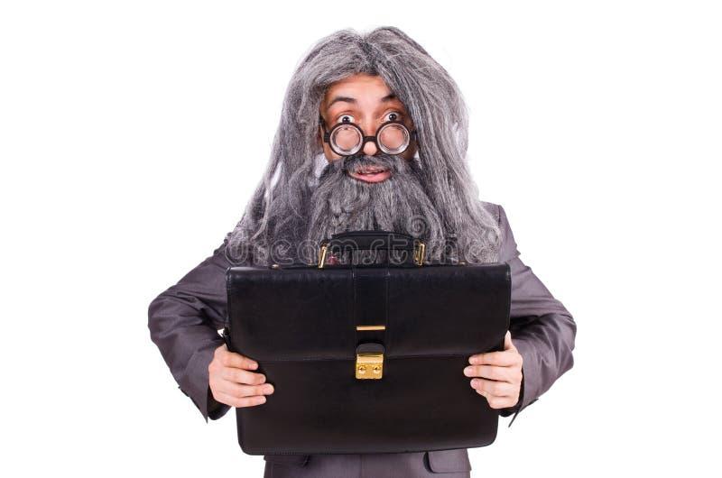 Le vieil homme dans le concept drôle images libres de droits