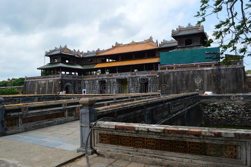 Le Vietnam - Hue - la citadelle - passage méridien photo libre de droits