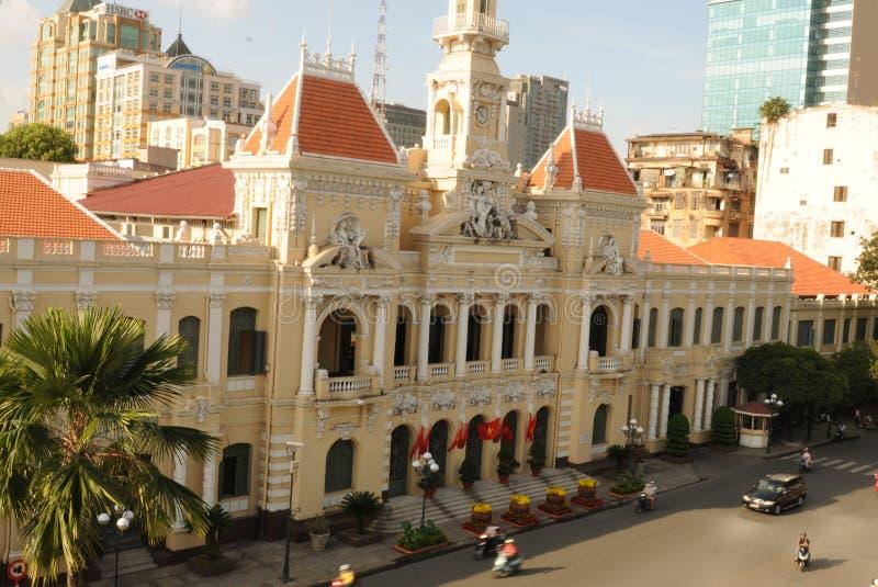 Le Vietnam : L'opéra de Ho Chi Ming City du toit de Rex Hotel légendaire photographie stock libre de droits