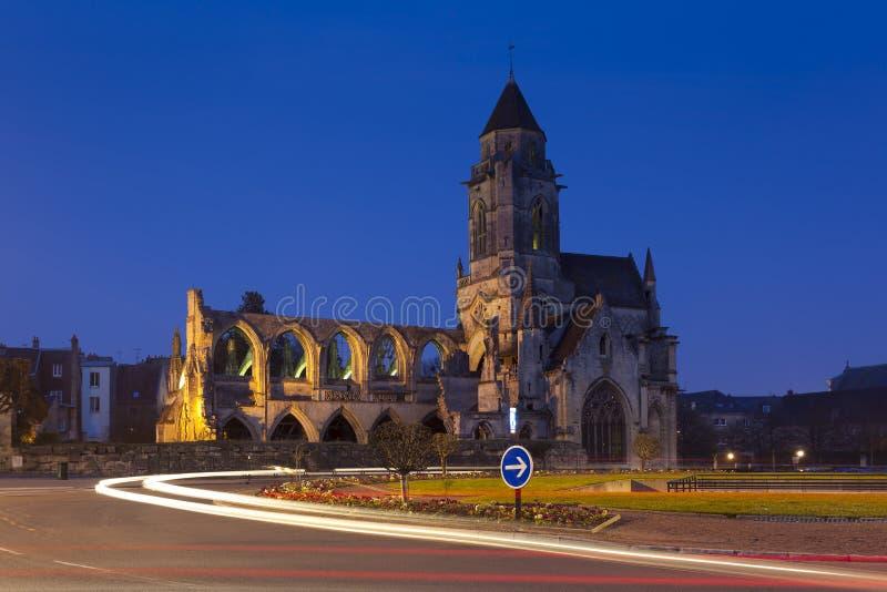 Le Vieux圣艾蒂安,凯恩教会  免版税库存图片