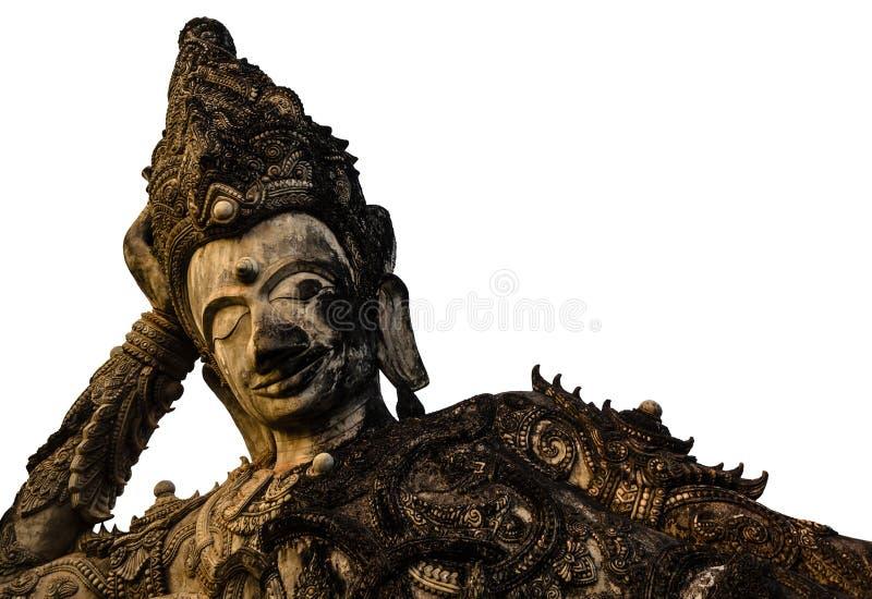 Le vieux Bouddha de sommeil photographie stock