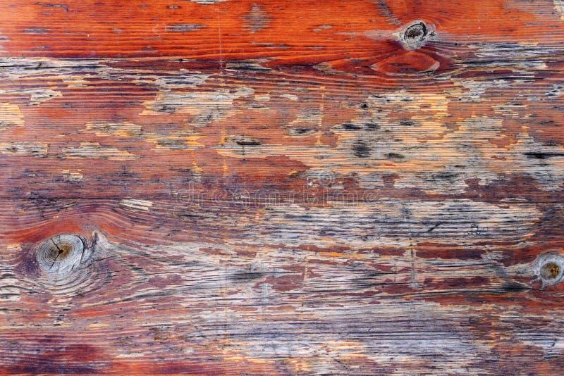 Le vieux brun a peint et a survécu au conseil en bois minable Texture en bois naturelle images stock