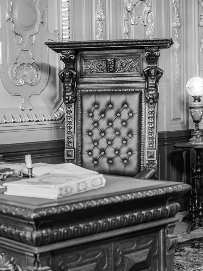 Le vieux bureau d'un négociant russe images libres de droits