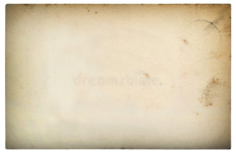 Le vieux carton utilisé de feuille de papier souille la vignette photo libre de droits