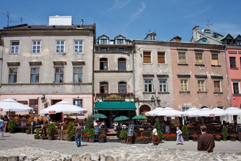 Le vieux centre historique de Lublin, Pologne photos libres de droits