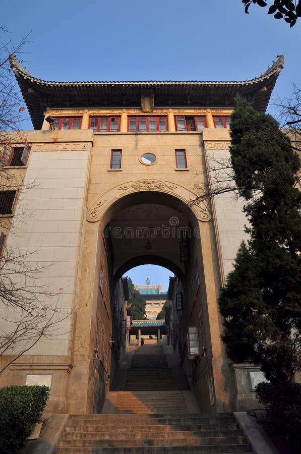Le vieux dortoir d'étudiant de l'université de Wuhan images stock