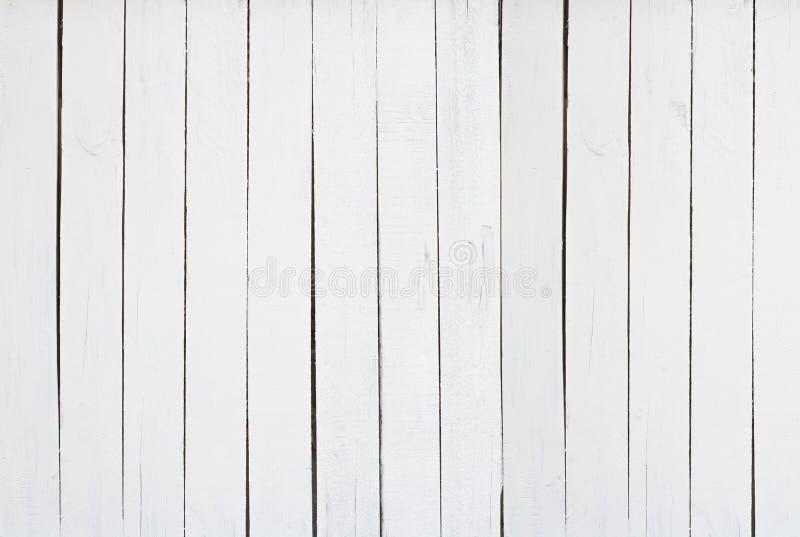 Le vieux fond en bois blanc de mur de texture dans le vintage avec l'espace de copie, vue supérieure de plancher peut utilisé pou photos libres de droits