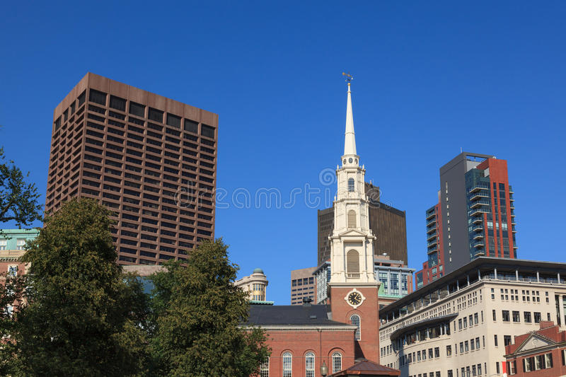 Le vieux lieu de réunion du sud à Boston images libres de droits