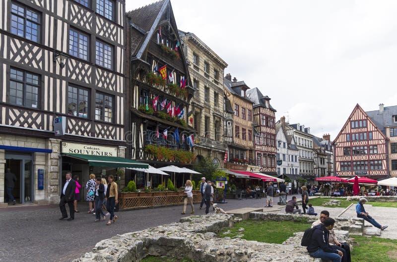 Le vieux marché à Rouen, France photographie stock