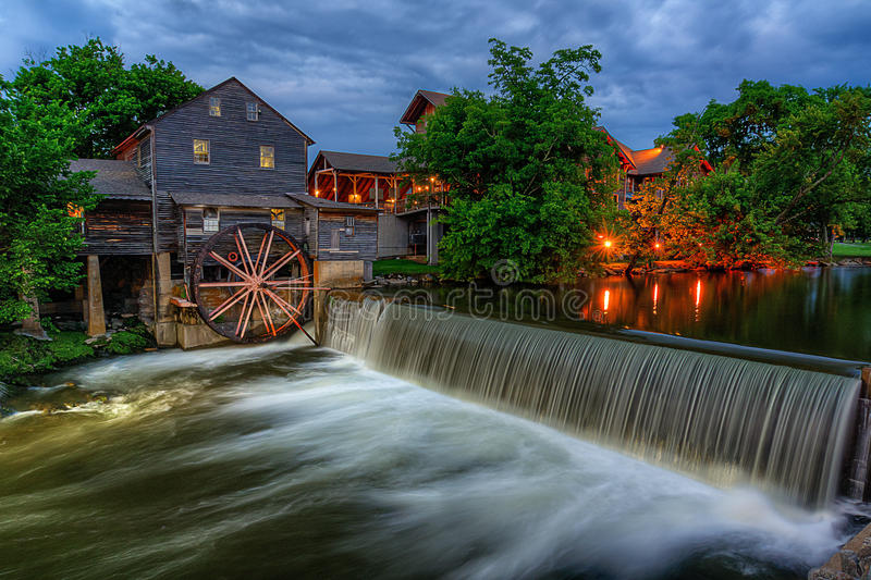 Le vieux moulin, Pigeon Forge Tennessee photographie stock