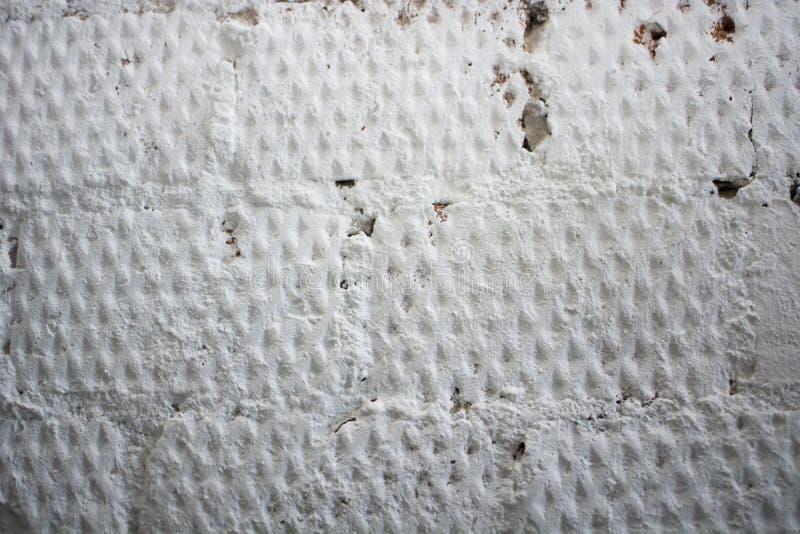 Le vieux mur en béton blanc grunge de texture photos libres de droits