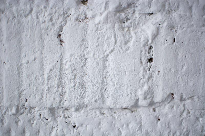 Le vieux mur en béton blanc grunge de texture image libre de droits