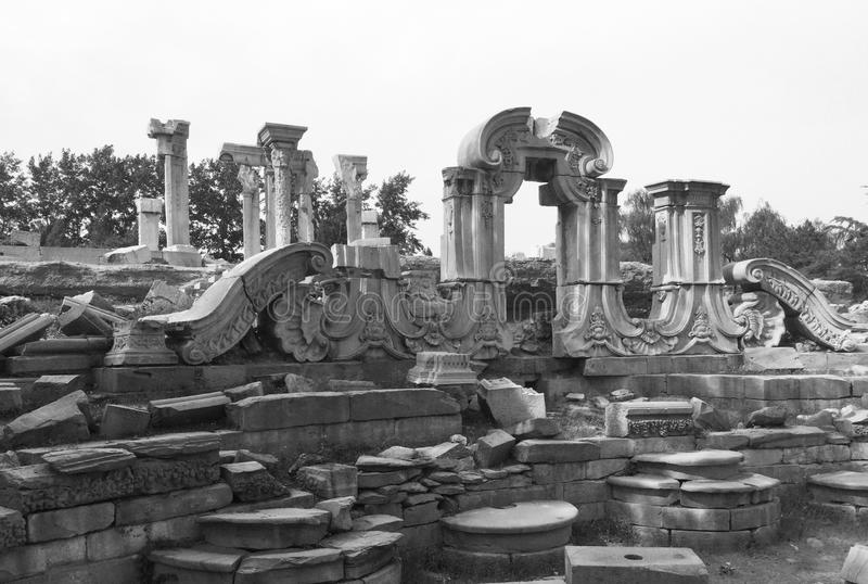 Le vieux palais d'été (yuan de Ming de yuan) photographie stock libre de droits