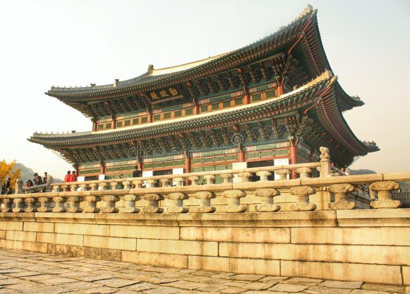 Le vieux palais royal de kiang-bok-kung de la famille royale de la Corée du Sud, Séoul, Corée du sud photo libre de droits