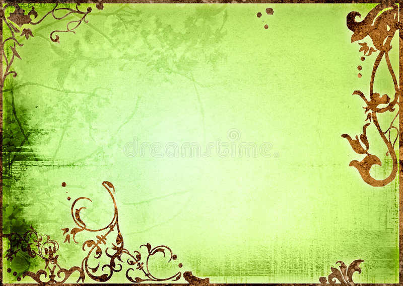 Le vieux papier de type floral donne à la trame une consistance rugueuse photo libre de droits