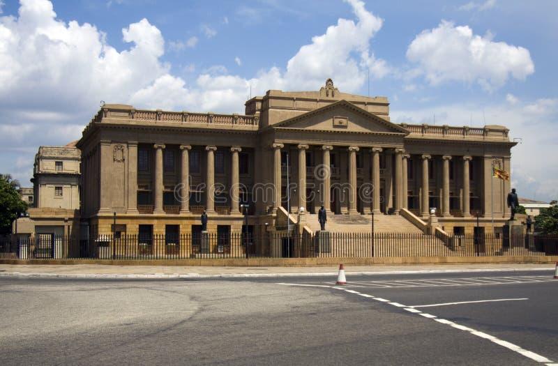 Le vieux Parlement, Colombo image libre de droits