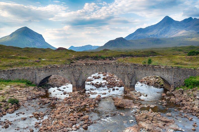 Le vieux pont chez Sligachan photographie stock libre de droits