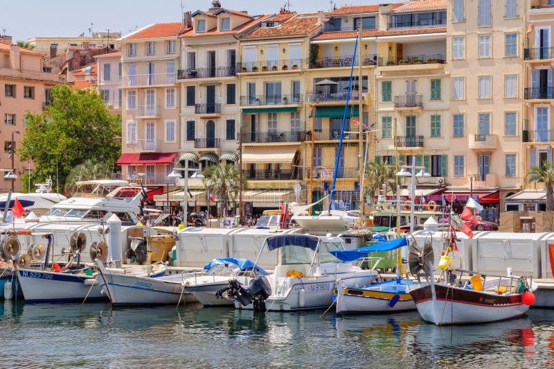 Le Vieux Port - Cannes photo stock
