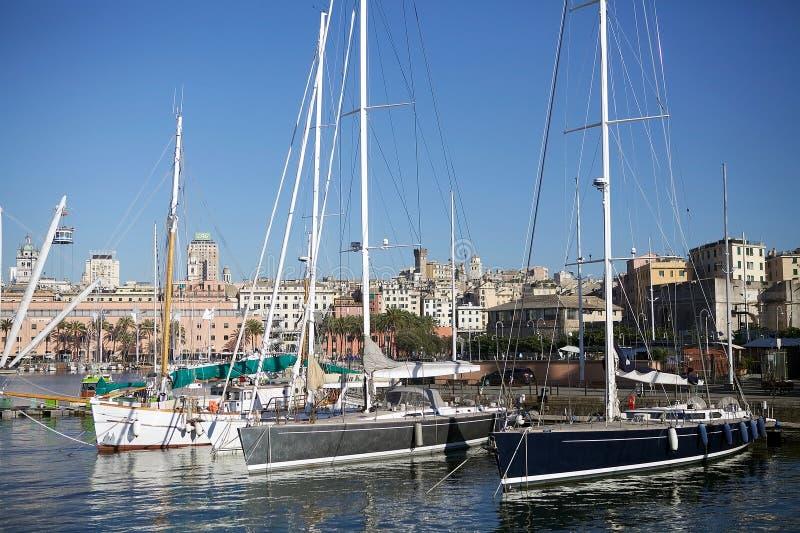 Le vieux port de Gênes, Italie images stock