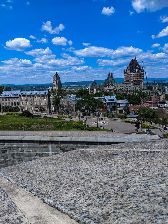 Le vieux Québec du frontenac de château photos libres de droits