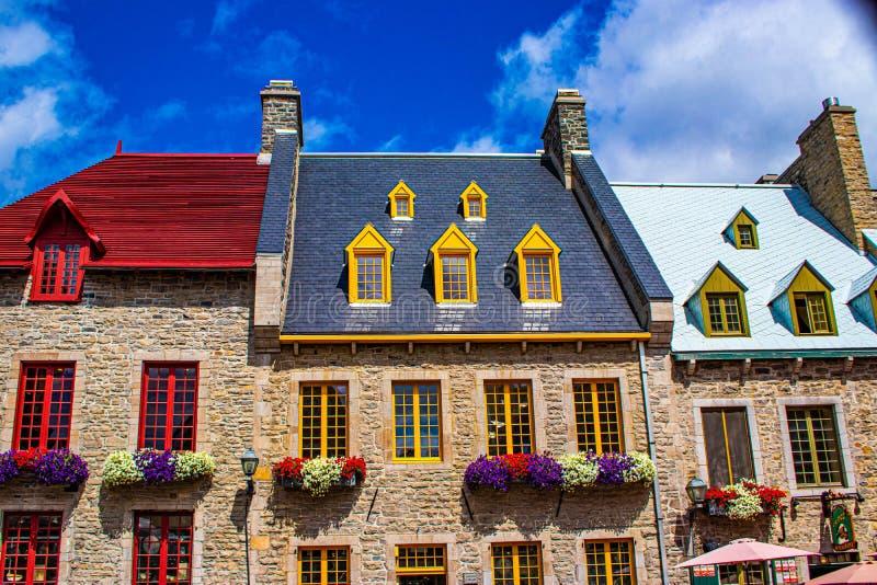Le Vieux Quebec immagine stock libera da diritti