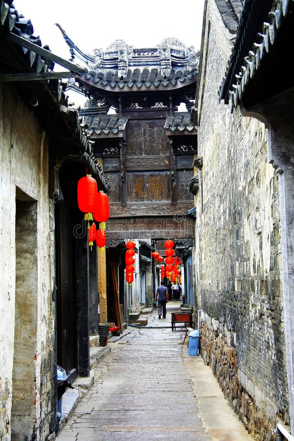 Le village antique chinois de Luxiang photo stock