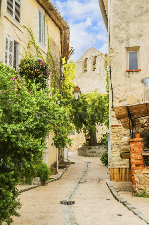 Le village de Castellet images stock