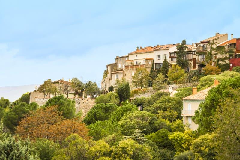 Le village de Castellet photo stock