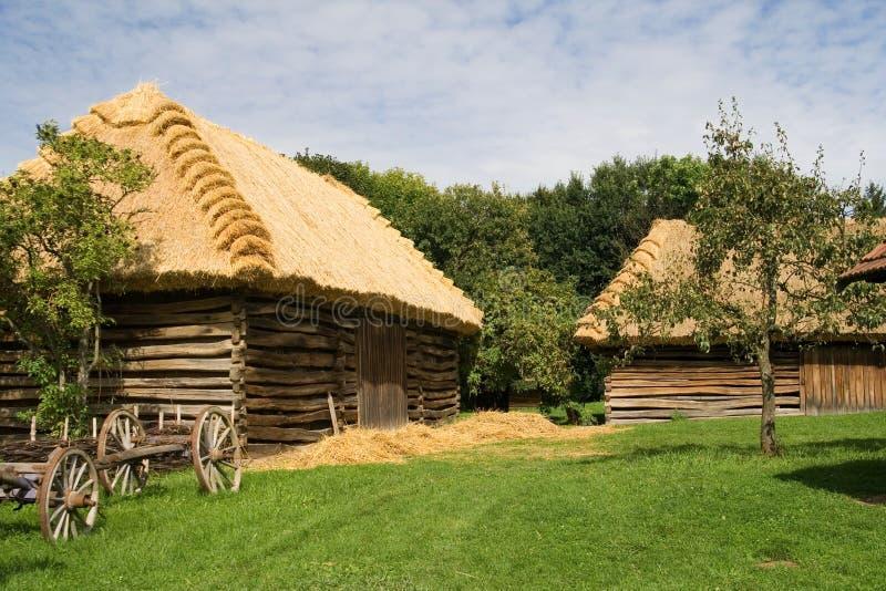 Le village de Moravian photo libre de droits