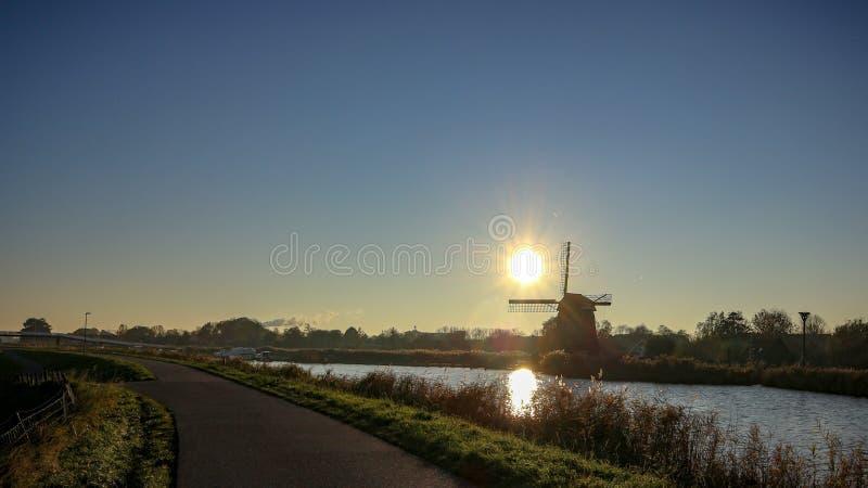 Le village de Oudrop dans la région d'Alkmaar, Pays-Bas ! photos libres de droits