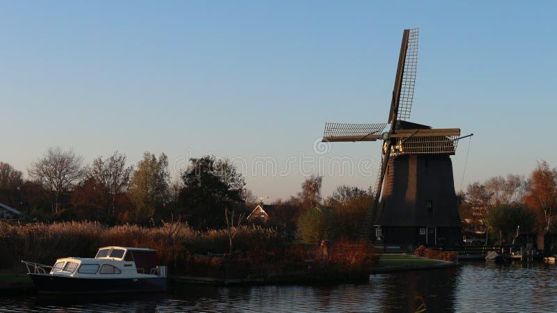 Le village de Oudrop dans la région d'Alkmaar, Pays-Bas ! image stock