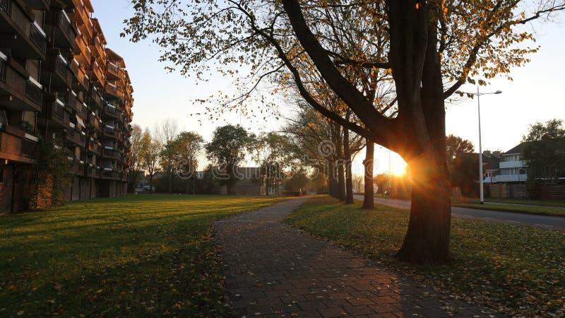 Le village de Oudrop dans la région d'Alkmaar, Pays-Bas ! images stock