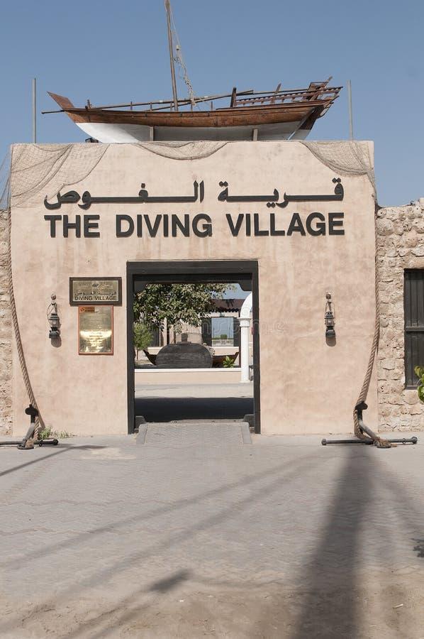 Le village de plongée photographie stock libre de droits