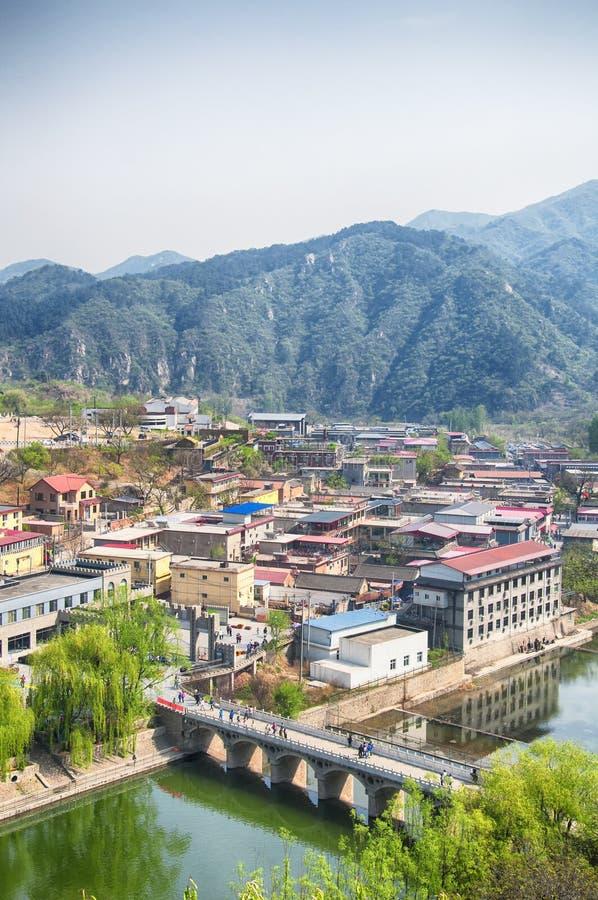 Le village pittoresque de Huanghua Cheng Pékin Chine photographie stock libre de droits
