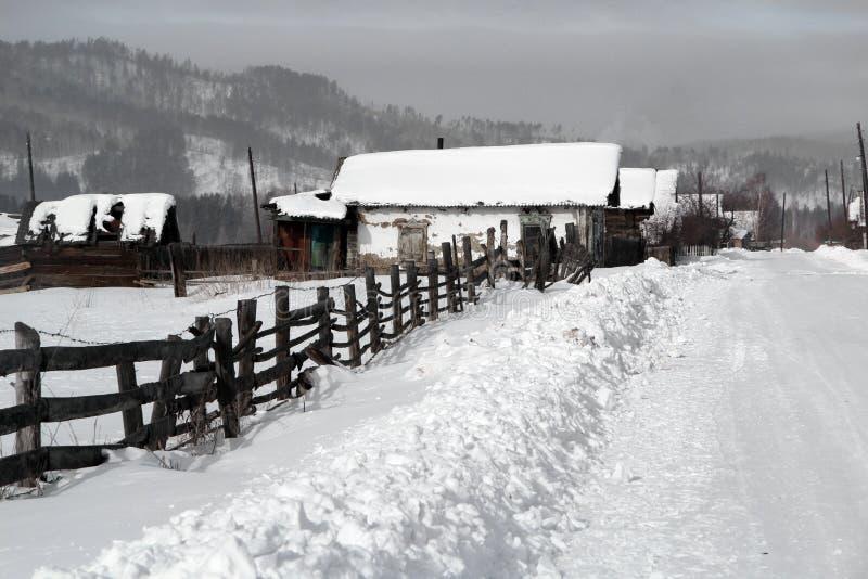 Le village sibérien photos libres de droits