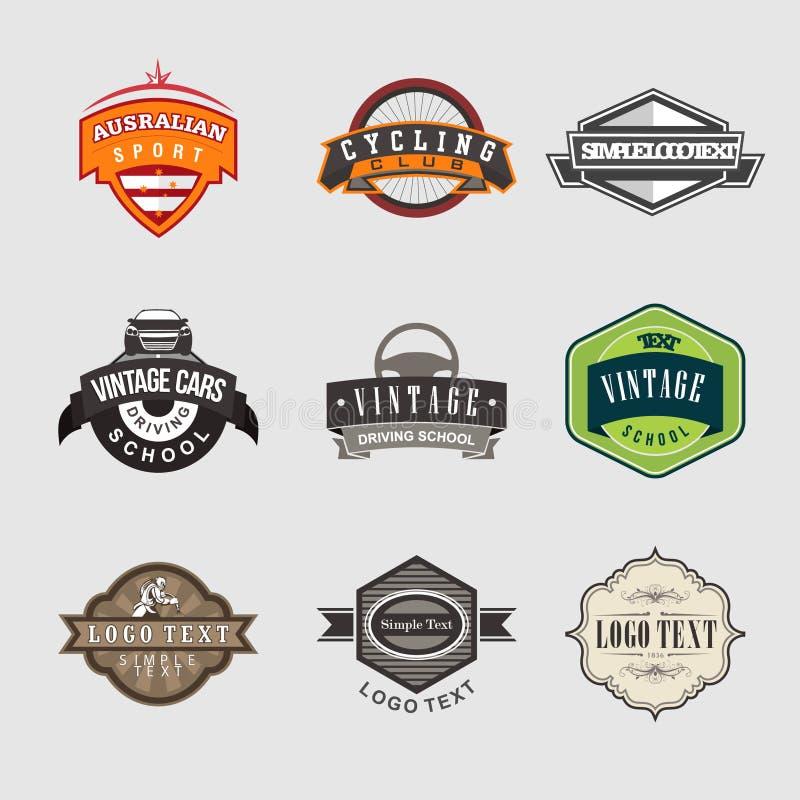 Le vintage Badges le logo images stock