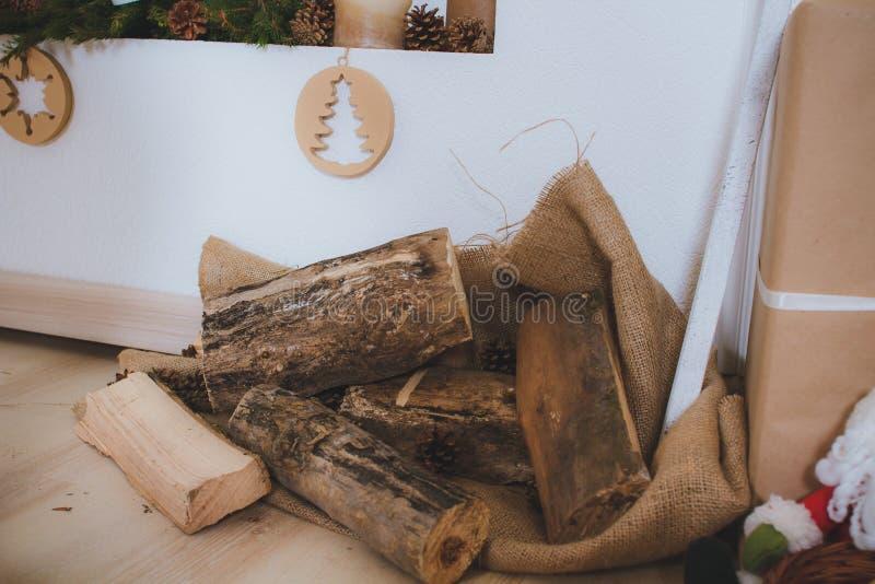 Le vintage en bois de jouets de Noël présente rustique image libre de droits