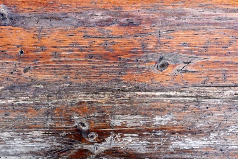 Le vintage peint et a survécu au conseil en bois minable Texture en bois naturelle photographie stock
