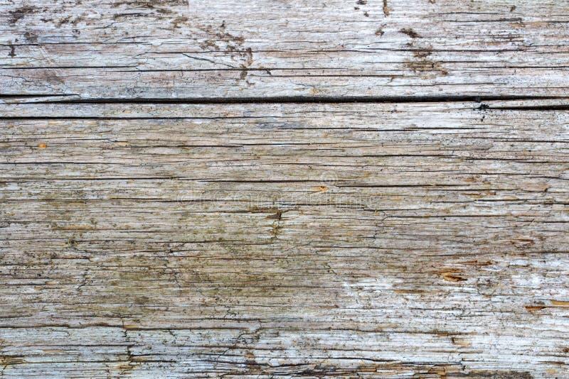 Le vintage a survécu à la texture de conseil en bois avec les usures et le plan rapproché profond de fissures Fond en bois abstra photographie stock