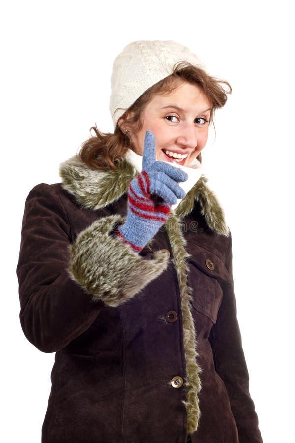 le vinter för lagflicka fotografering för bildbyråer