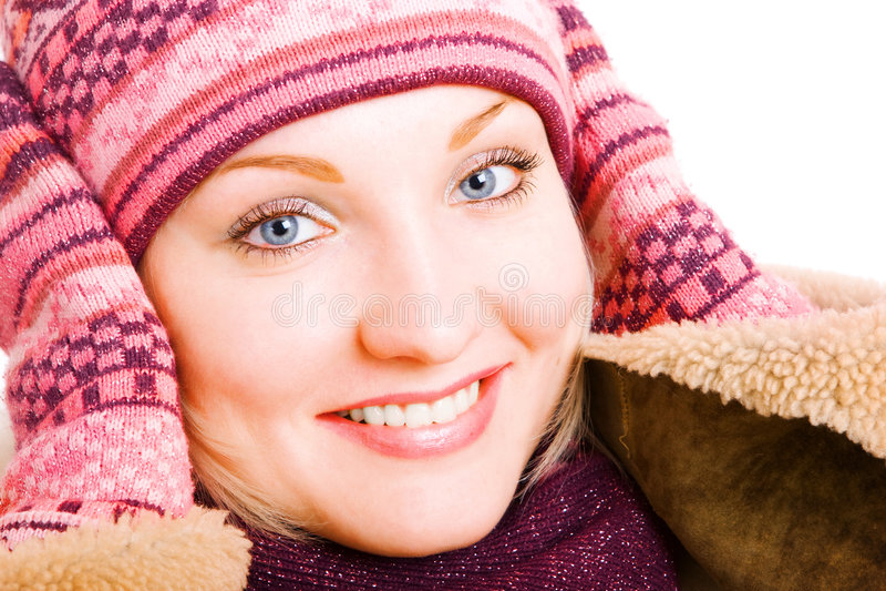 le vinter för lagflicka royaltyfri fotografi