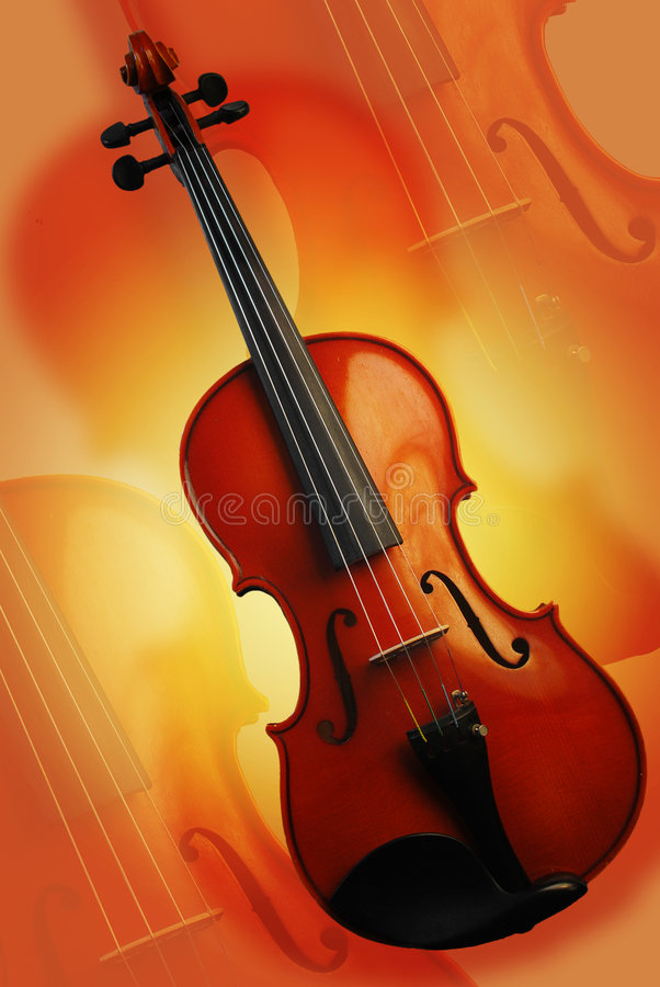 Le violon rouge photographie stock libre de droits