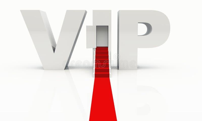 Le VIP sont bienvenu illustration stock