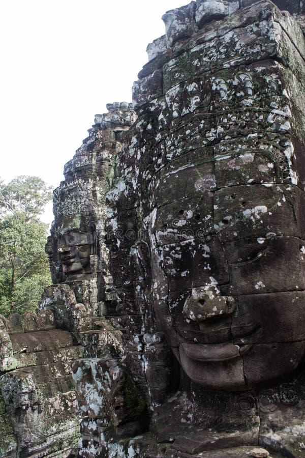 Le visage d'Angkor Thom photographie stock