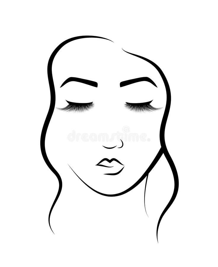 Silhouette Noire élégante Dune Femme Ou Dune Fille Avec