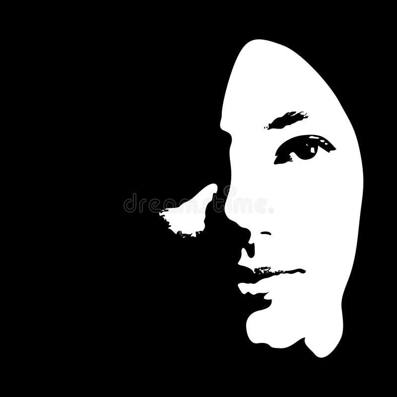Le visage de la fille illustration stock