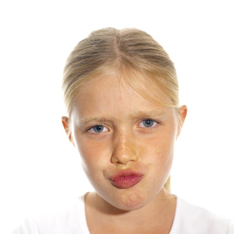 Le visage de la fille expressive photos libres de droits